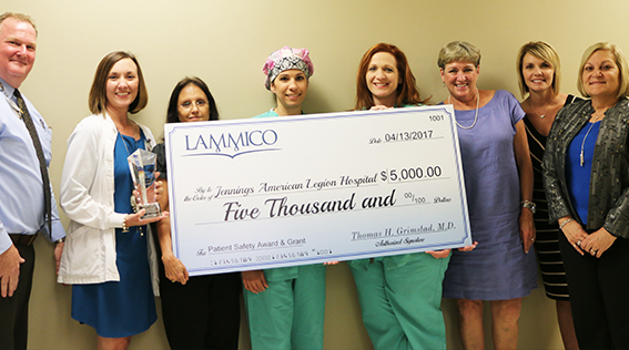 Jennings American Legion Hospital Wins LAMMICO Grant
